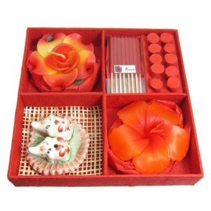 Rose Incense & Candle Gift Set