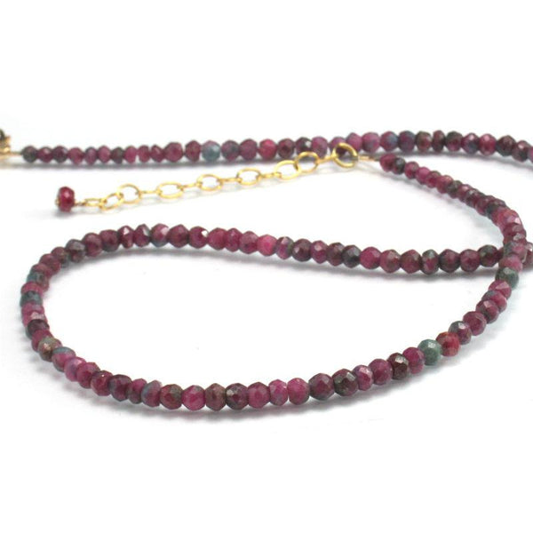 Ruby-Zoisite Necklace w/Gold Filled Trigger Clasp