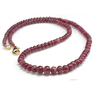 Ruby Necklace w/Gold Filled Trigger Clasp