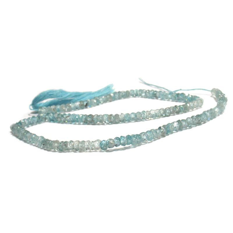 Zircon Faceted Rondelles 4mm Strand