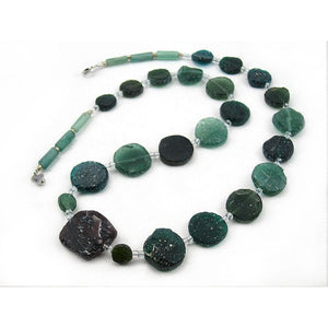 Antique Excavated Afghan Glass Bead Necklace