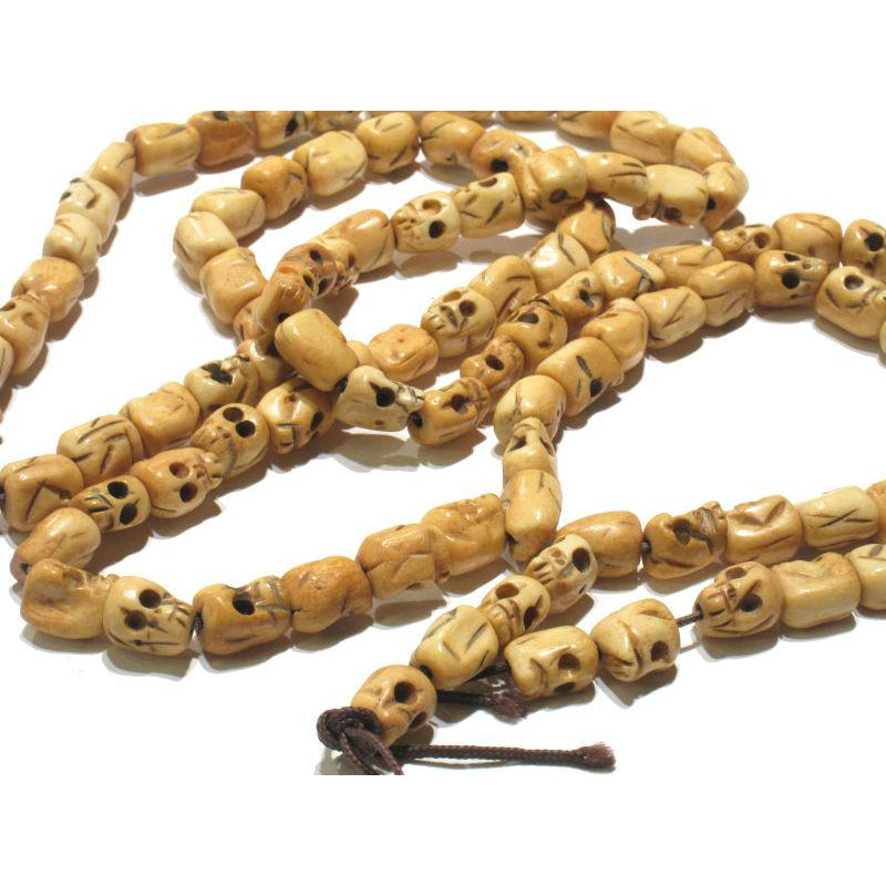 Yak Bone Hand Carved Skull Mala