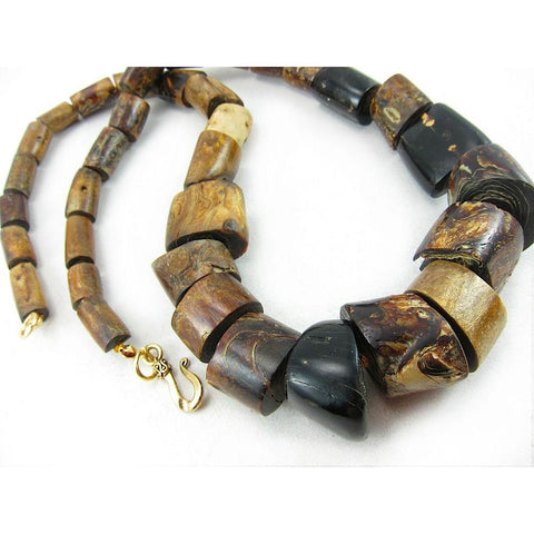 Natural Golden Coral Branch Beaded Necklace/Strand