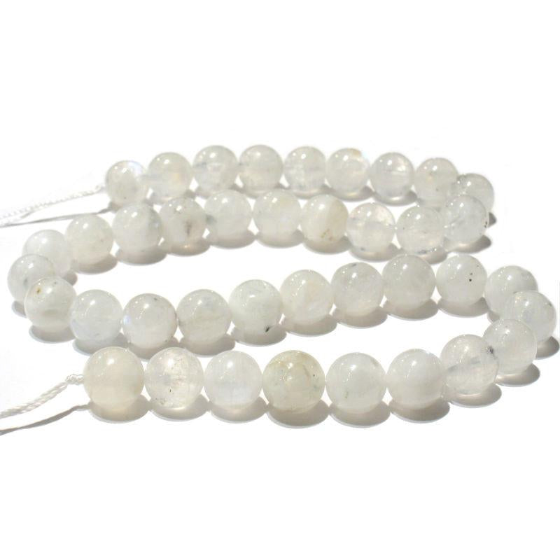 Moonstone 10mm Smooth Rounds Strand