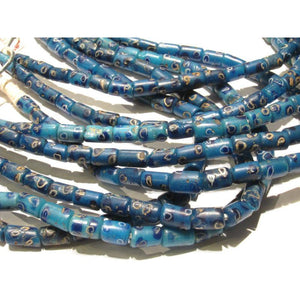 "19th C. Venetian Blue Triple Inlay ""Eye"" Beads"