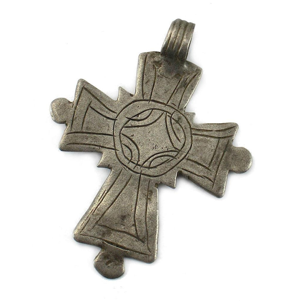 Ethiopian Cross Early 20th Century Pendant #7