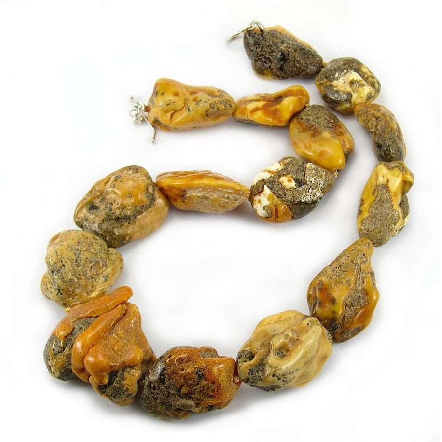 19th Century Raw Baltic Amber Nugget Strand/Necklace from Tibet 3