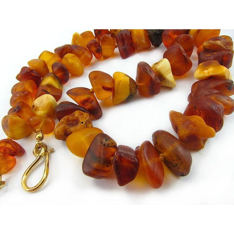 Amber 19th Century Baltic Origin Dowry Knotted Strand/Necklace