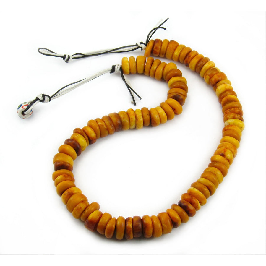1940-60's Cast Resin Amber Dowry Strand Type 2