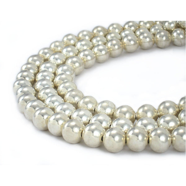 95% Pure Silver Round Bead Strand/Necklace