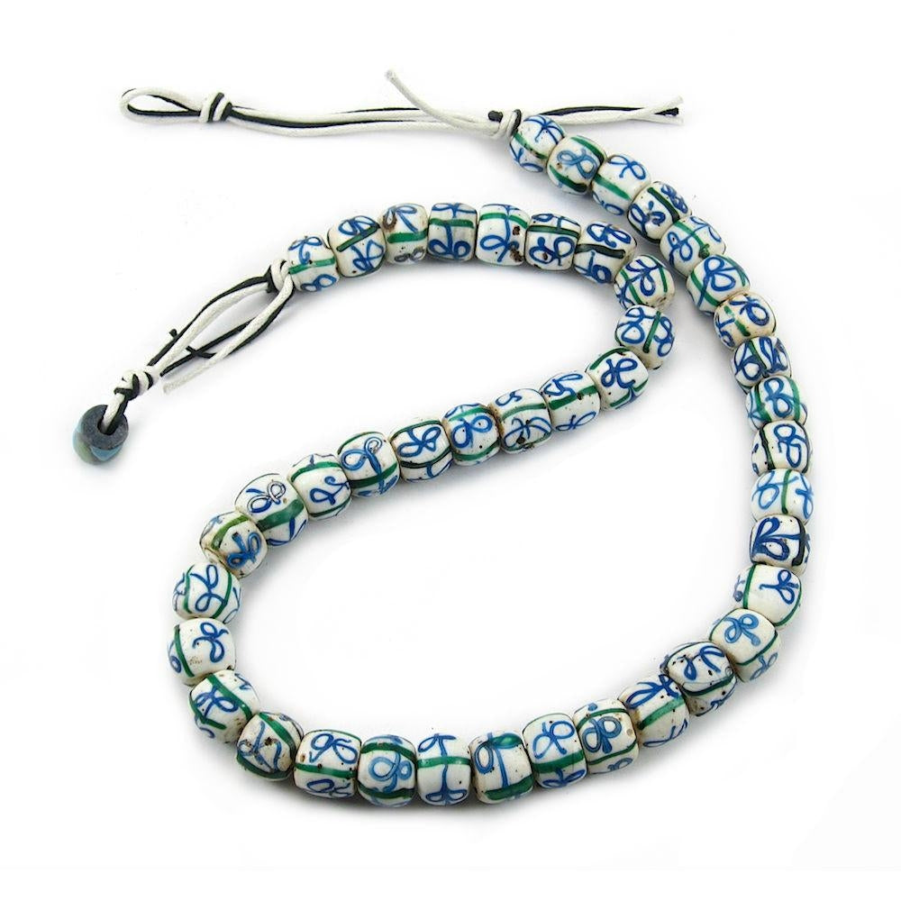19th Century Venetian Blue Ribbons Bead Strand/Necklace