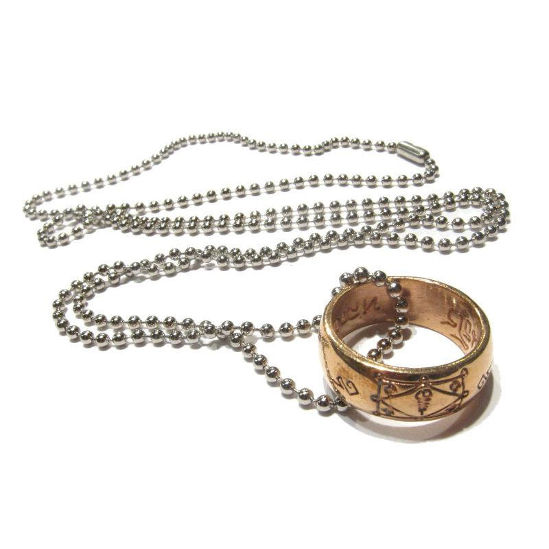 Thai Copper Ring Amulet Necklace