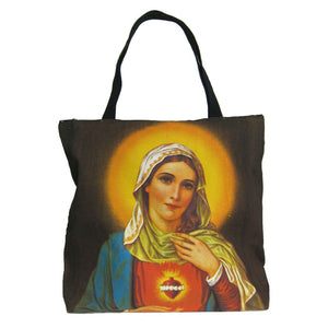 Screen Printed Tote Bag, Virgin Mary