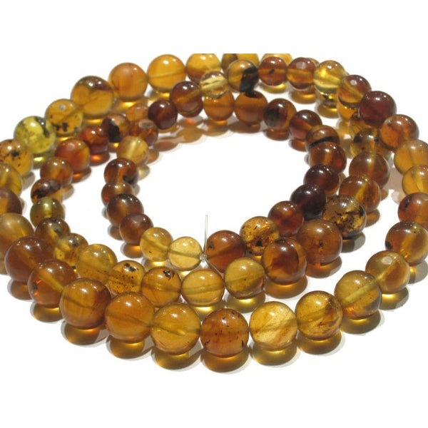 Heirloom Burmite Amber Graduated Bead Strand