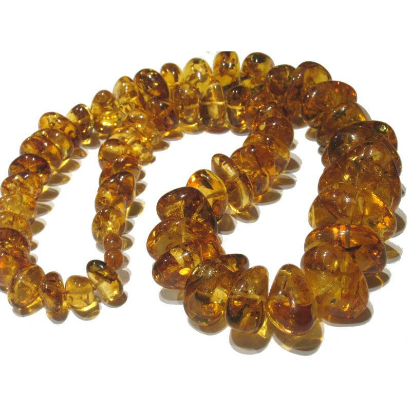 Amber Nugget Fine Clear XL Strand/Necklace