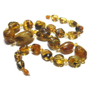 Grand Baltic Amber Extra Large Nugget Necklace