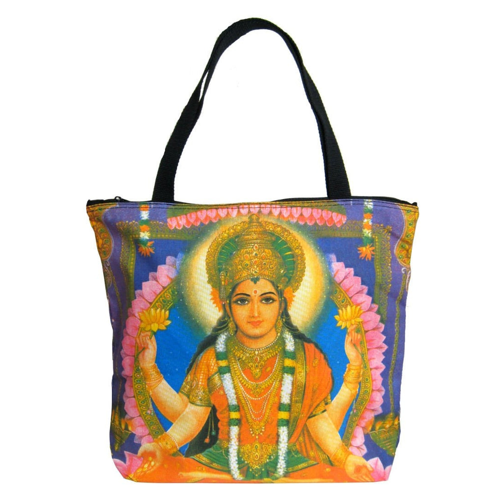 Screen Printed Tote Bag, Lakshmi (2)