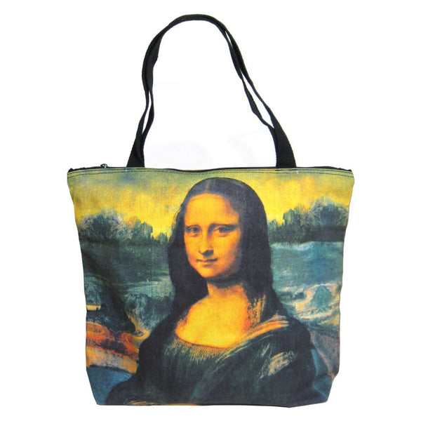 Screen Printed Tote Bag, Mona Lisa