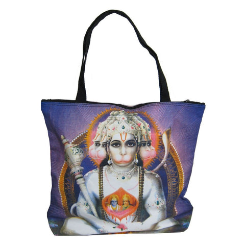 Screen Printed Tote Bag, Hanuman (2)