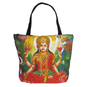 Screen Printed Tote Bag, Lakshmi (1)