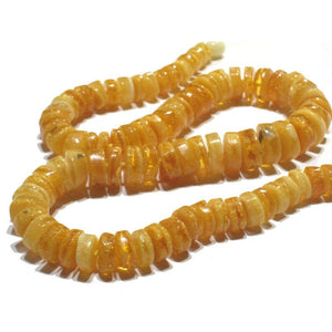 Golden White Amber Wheel Strand/Necklace