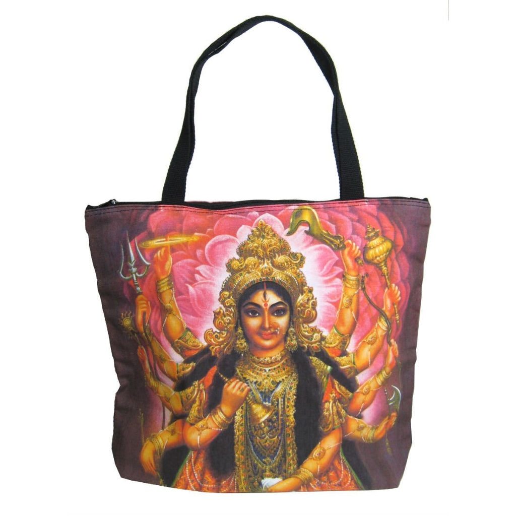 Screen Printed Tote Bag, Durga (2)