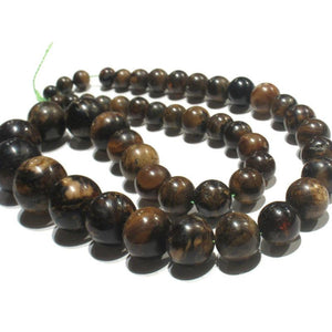 "Burmite ""Root Amber"" Graduated Rounds Strand"