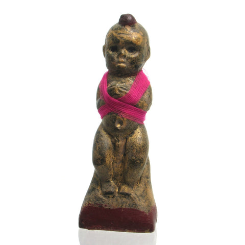 "Kuman Thong ""Golden Boy"" Amulet Figure"