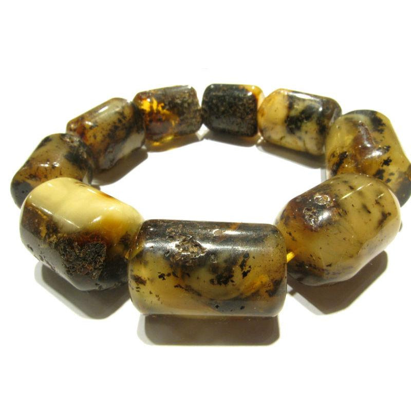 "Baltic Amber Beads in ""Log"" Cylinder Shape 2"