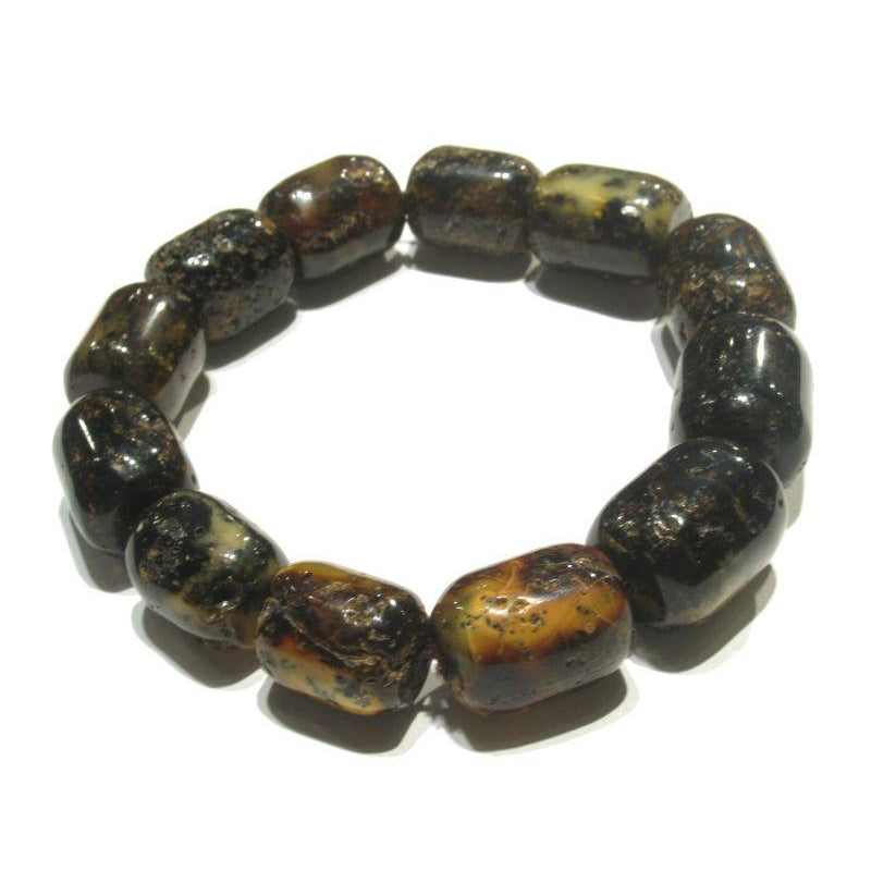 "Baltic Amber Beads in ""Log"" Cylinder Shape 1"