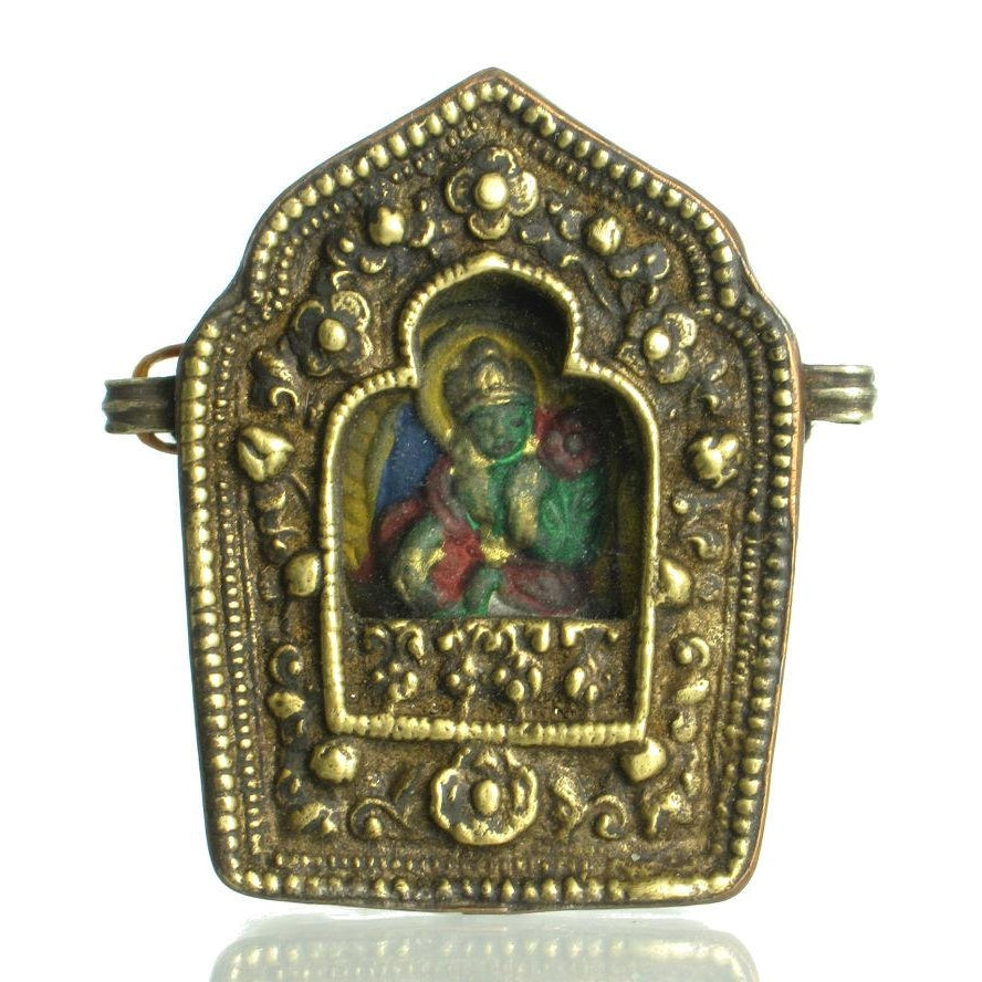 Tibetan Gau Amulet Case with Green Tara