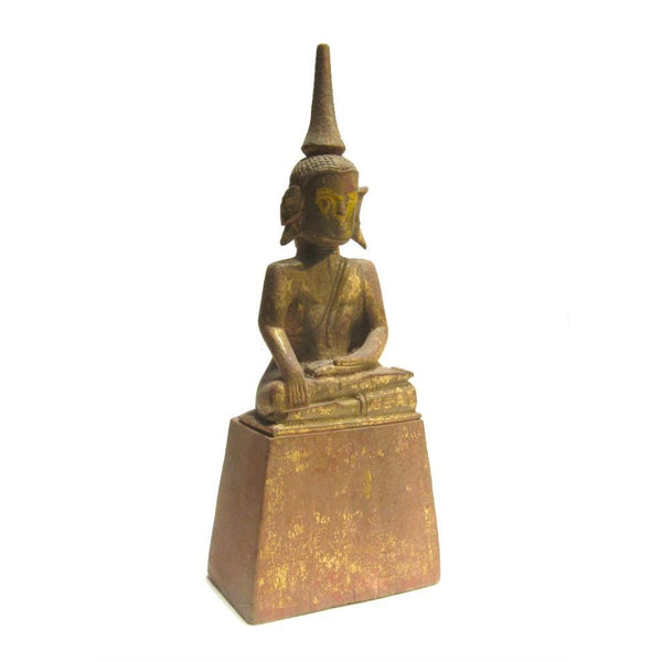 "Buddha Statue Antique Laos/ Northern Thailand Style ca.1920 11.5"" Tall"