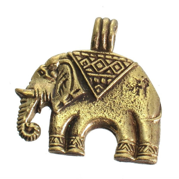 Brass Elephant Pendant Small