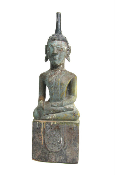 "Buddha Statue Antique Laos ca.1920-40 26"" Tall"