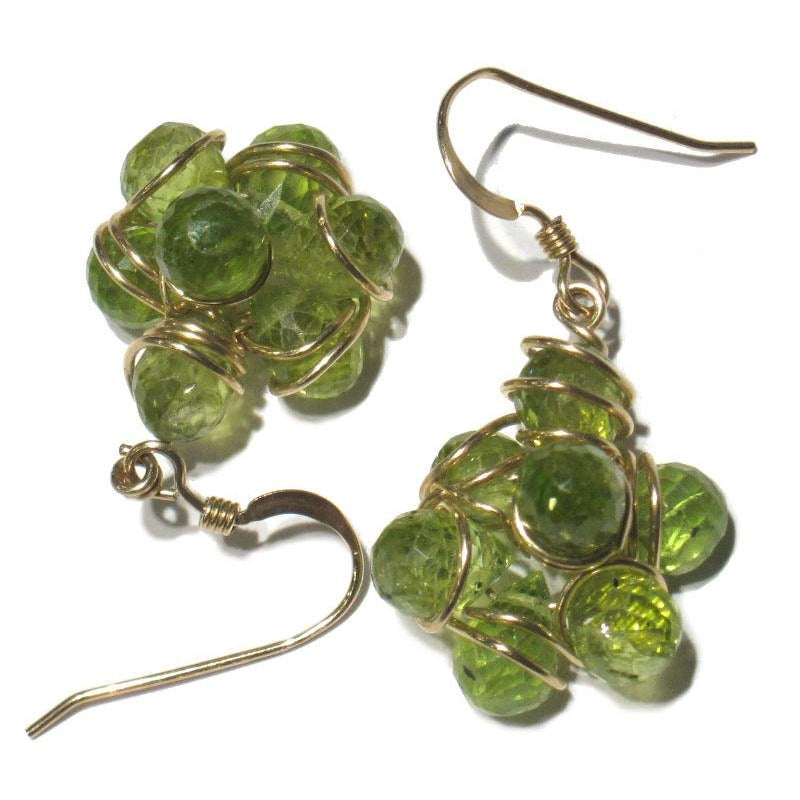 Peridot Earrings with Gold Filled Earwires