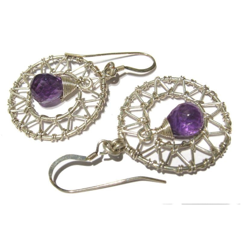 Amethyst Earrings with Sterling Silver Earwires