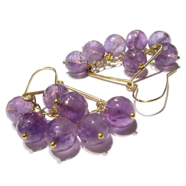 Amethyst Earrings with Gold Filled Earwires