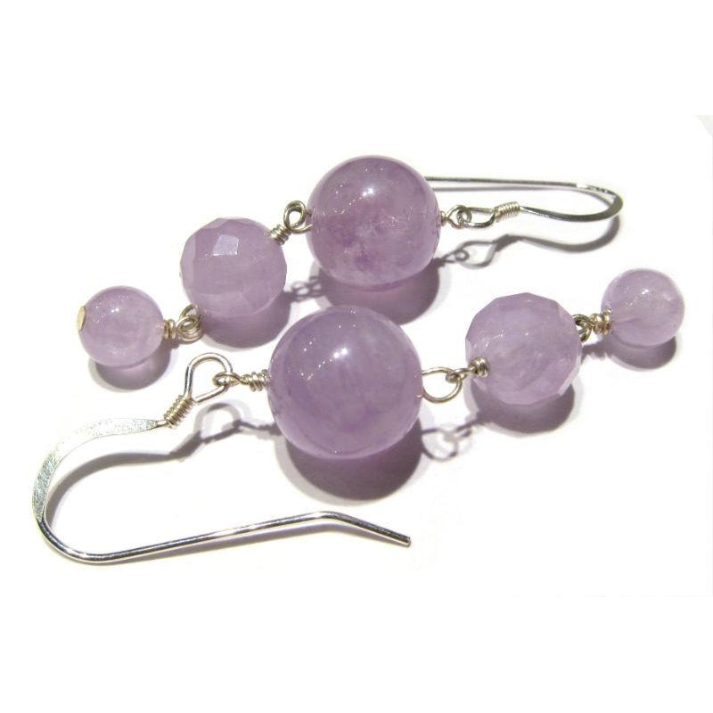 Amethyst Cascading Earrings with Sterling Silver Earwires