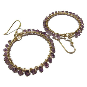 Amethyst Earrings with Gold Filled Ear Wires
