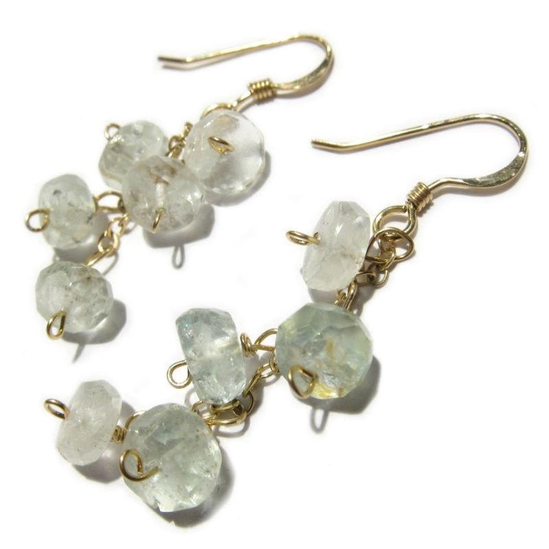 Aquamarine Earrings with Gold Filled Earwires