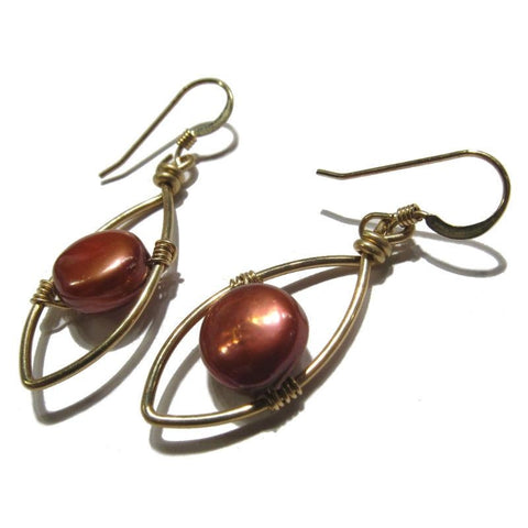 Freshwater Pearl Earrings with Gold Filled Earwires