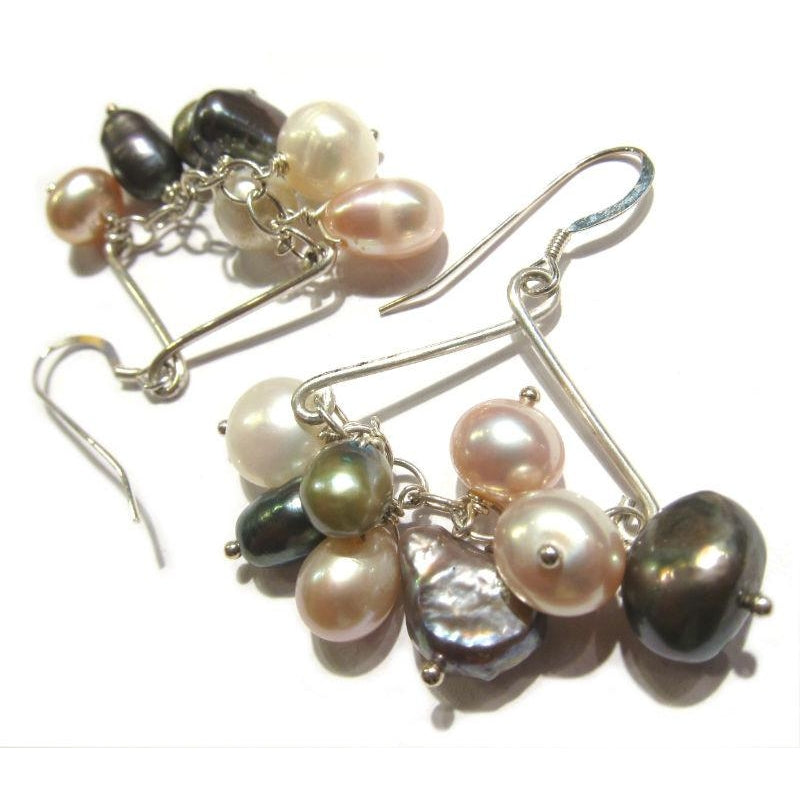 Freshwater Pearl Earrings with Sterling Silver Earwires