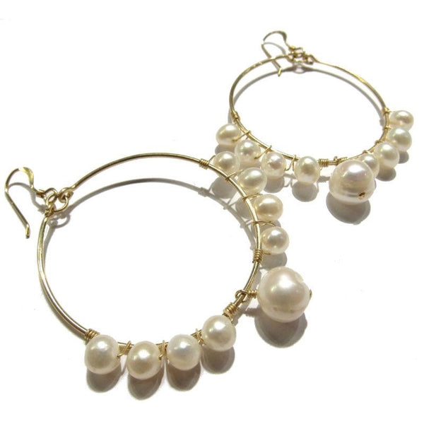 Fresh Water Pearl Earrings with Gold Filled Earwires