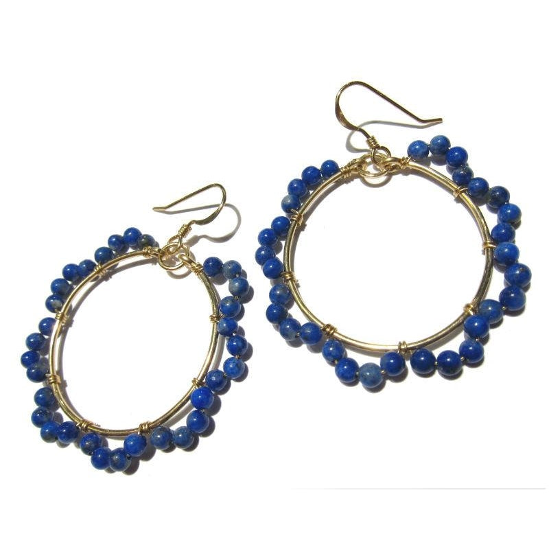 Lapis Lazuli Earrings with Gold Filled Earwires