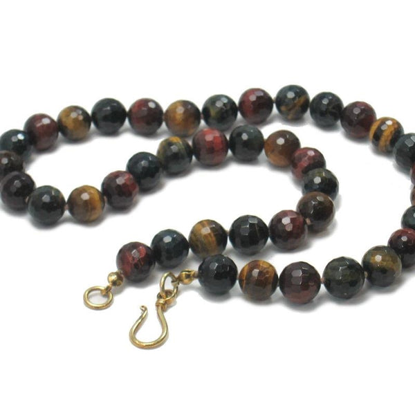 Tiger's Eye Necklace with Gold Plated Clasp