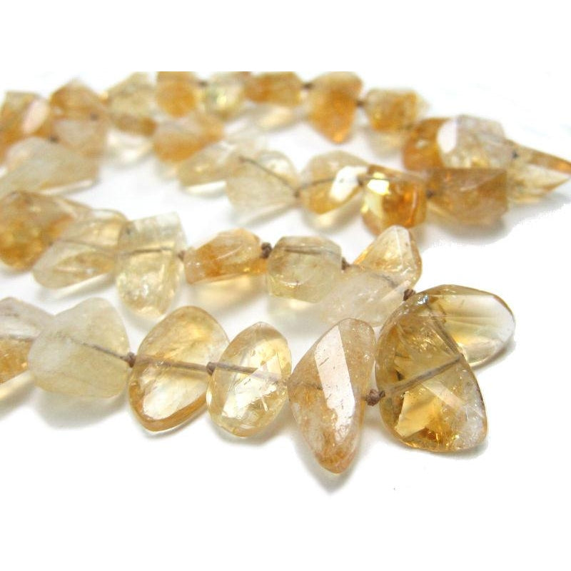 Citrine Necklace with Gold Plate Toggle Clasp