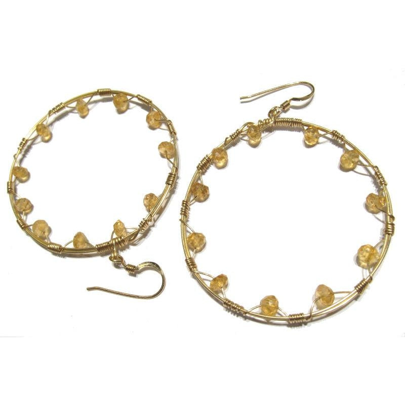 Citrine Earrings with Gold Filled Earwires