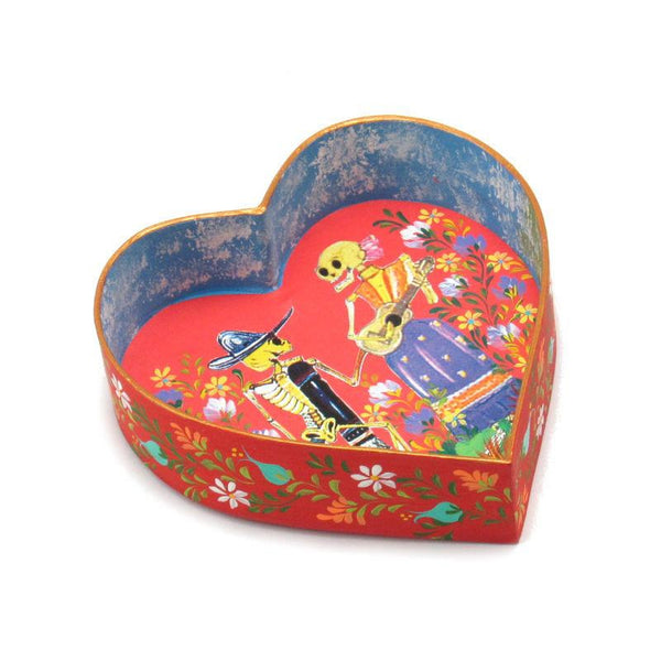 Day of the Dead Paper Heart Ornament
