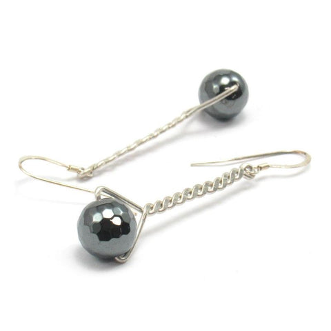 Hematite Earrings with Sterling Silver Earwires