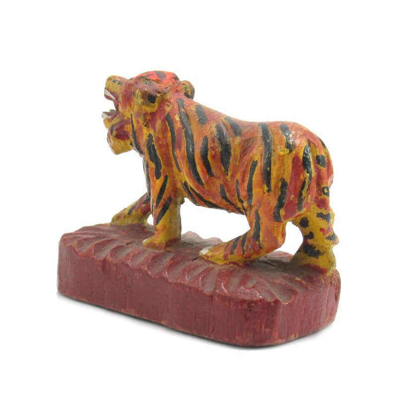 Antique Northern Thailand/ Burma Border Tiger Temple Guardian -01